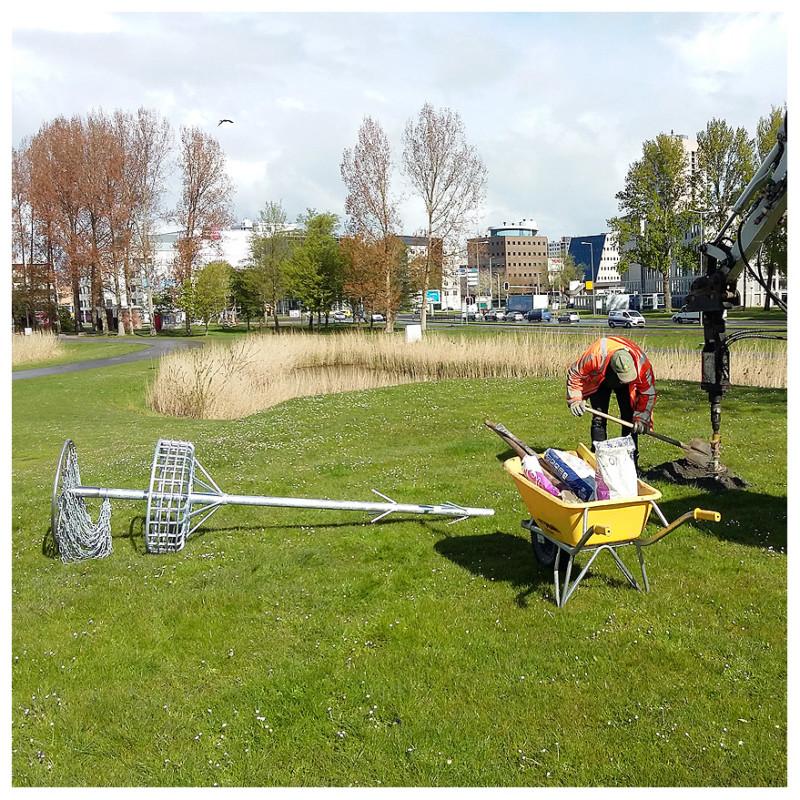 Klaar voor plaatsing: Disc Golf hole 03 Zuiderpark